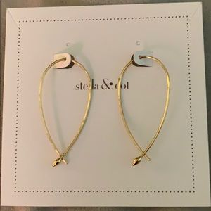 Stella & Dot Hammered Wire Small Hoops - Gold